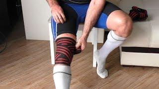 Как правильно мотать бинты на колени