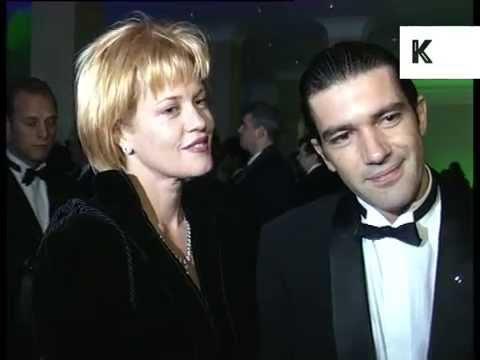 1995 Melanie Griffith and Antonio Banderas at Awards Ceremony