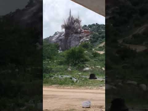 Hyderabad srs mines blasting video