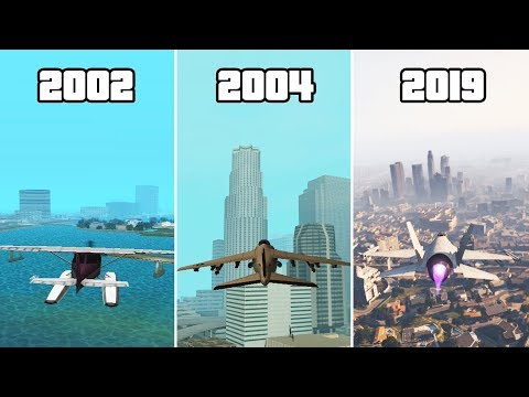 Evolution Of PLANES In GTA Games! 2001-2019