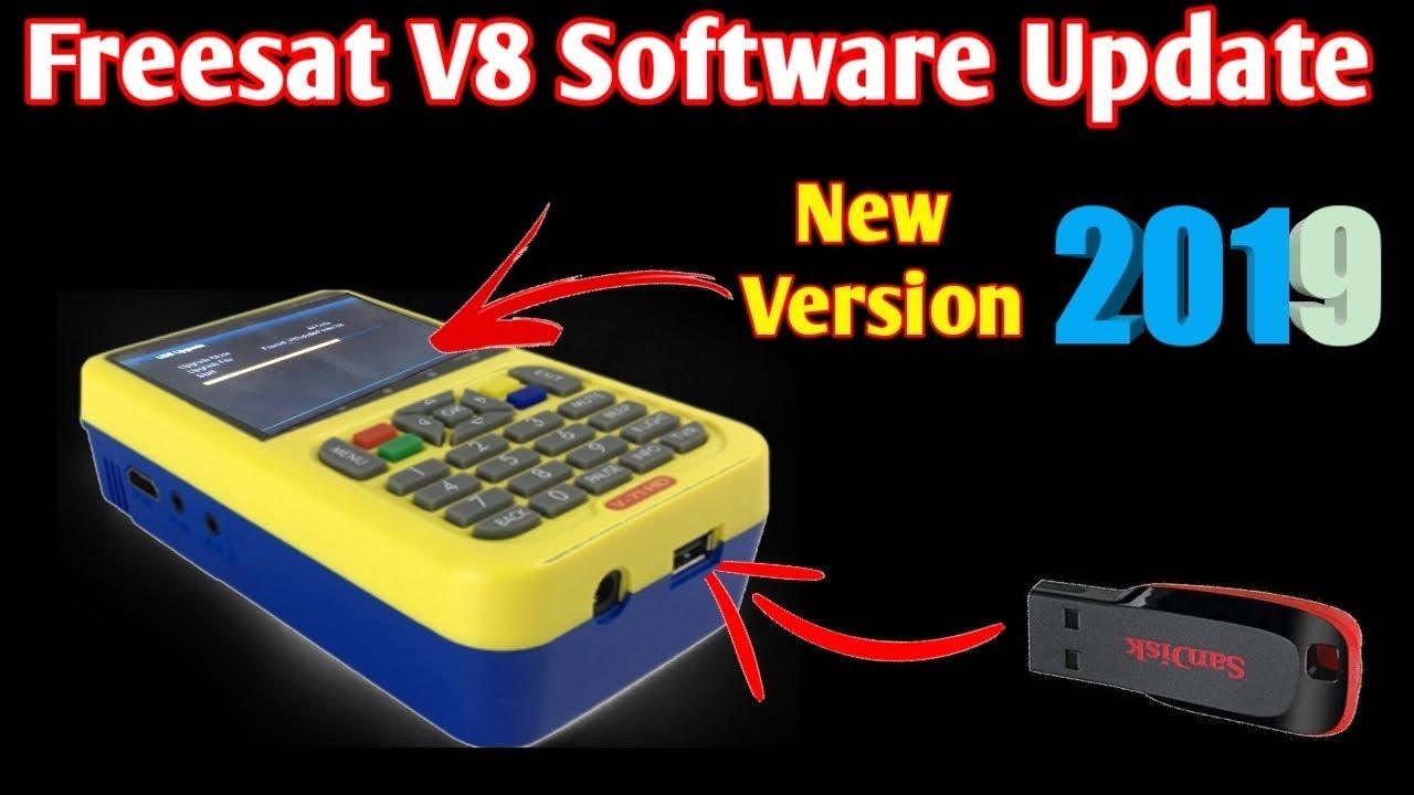 How to software upgrade in Freesat V8 Satfinder|| Freesat Finder Latest  software