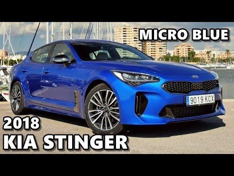 Kia For Sale >> 2018 Kia Stinger (Micro Blue) Exterior & Interior - YouTube