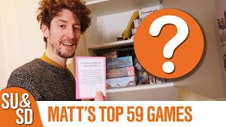 Matt's Top 59 Board Games (as of January 2020)