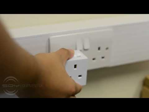 Discreet Room Bug - Double Plug Adapter