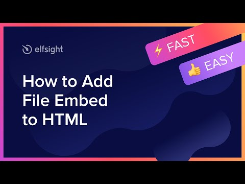 How To Add File Embed To HTML (2020)