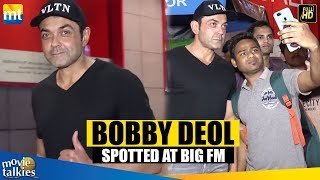 BOBBY DEOL SPOTTED At BIG FM's Office in Andheri