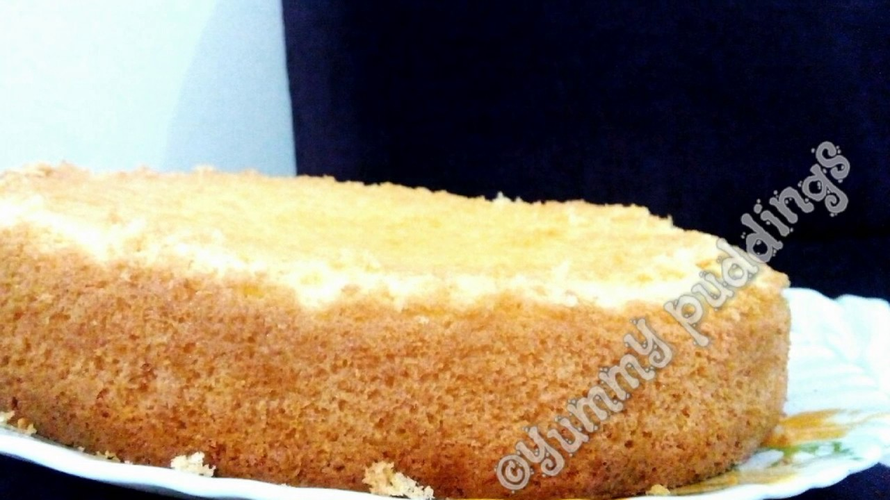 Vanilla sponge cake no butter no oil foolproof recipe for Cake recipe without butter