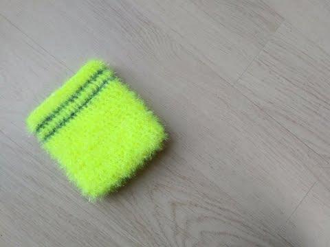 코바늘 목욕타월 수세미 뜨기 / 네모 수세미 / 사각 수세미 / crochet scrubby