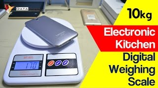Electronic Kitchen Digital Weighing Scale 10kg | Unbox & Review | Data Dock