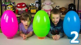 Jumbo Mystery Surprise Eggs Part 2 Jacob's Egg Avengers Superman Batman Ninja Turtles Star Wars