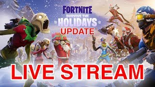 FORTNITE SURVIVE THE HOLIDAYS - NEW CHRISTMAS UPDATE - XBOX ONE - LETS GET THE UMBRELLA