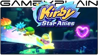 Kirby Star Allies - Battling a Boss on the Friend Star (Gameplay)
