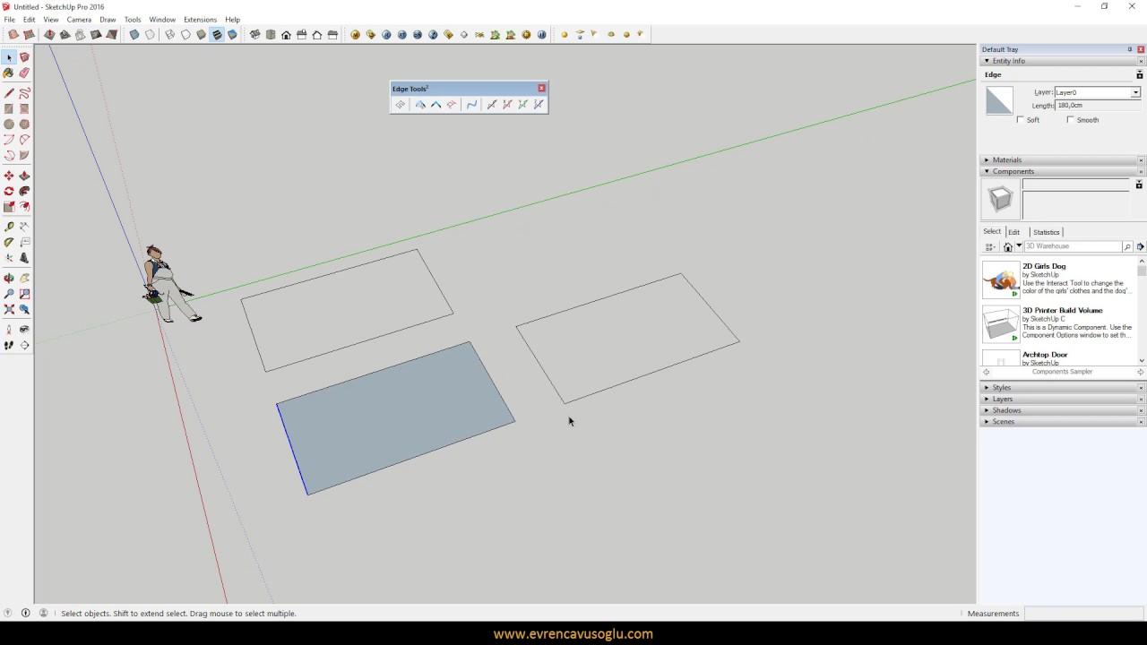 Sketchup Plugin / Edge Tools & Sketchup Plugin / Edge Tools - YouTube