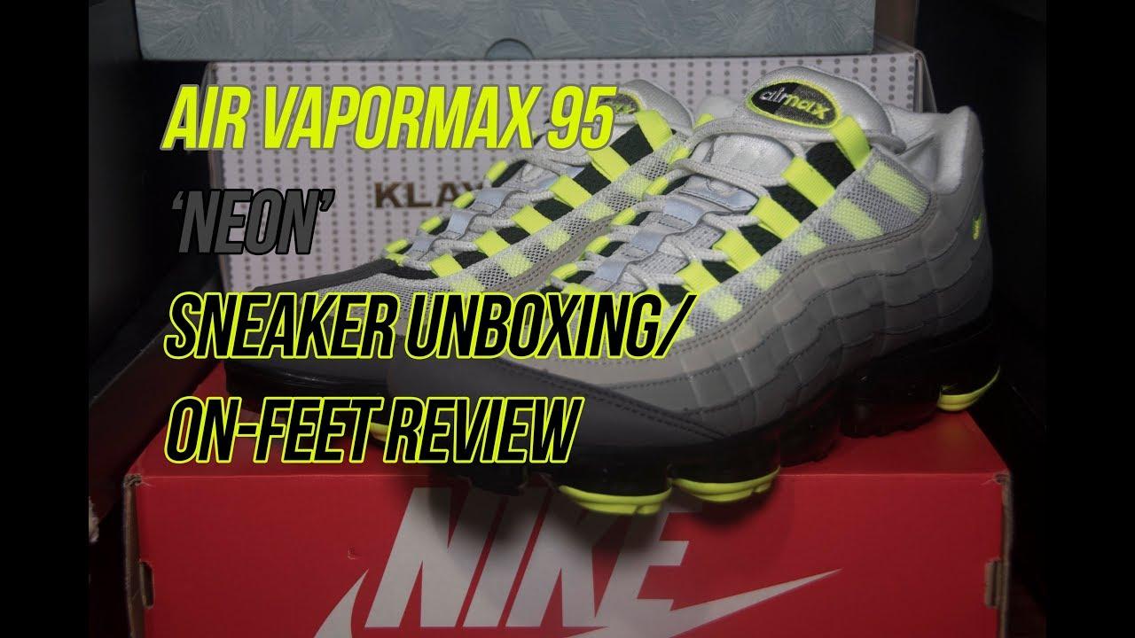 02fadf5e6dfa3 Nike Air Vapormax 95 'Neon' | Solepost Unboxings - YouTube
