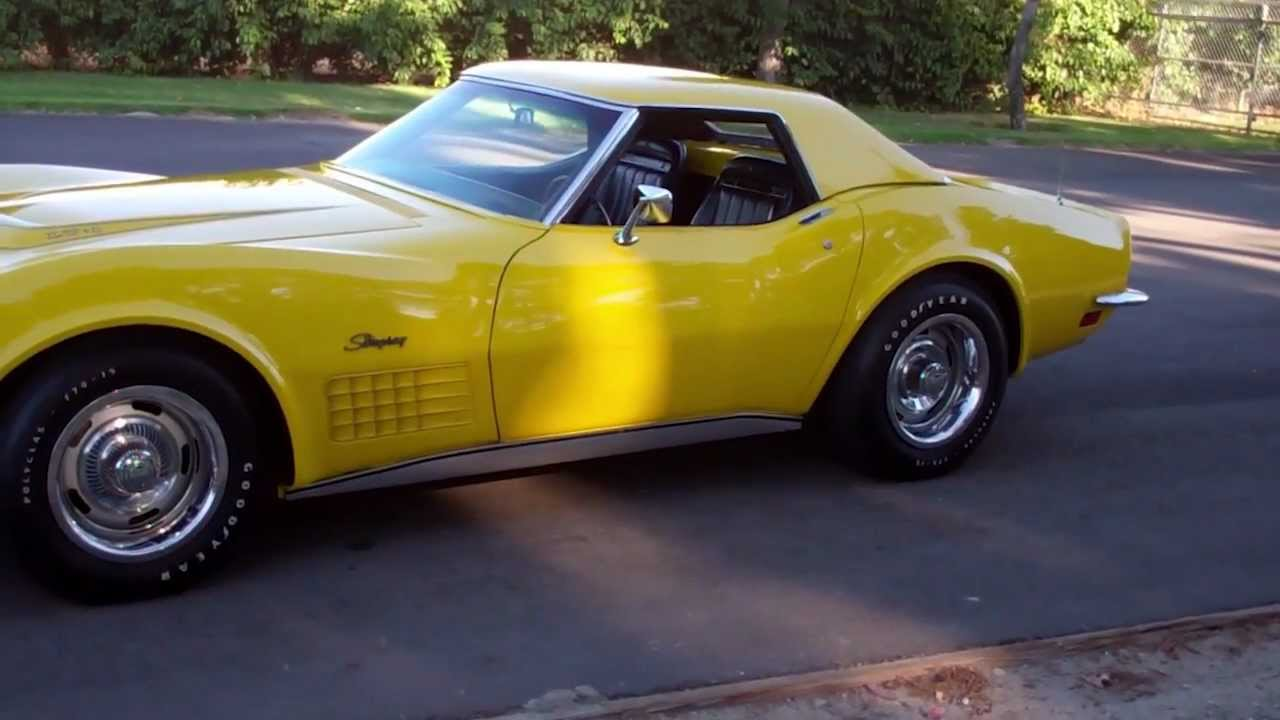 Sold 1971 C3 Corvette Sunflower Yellow 350 330hp Lt1 Lt 1