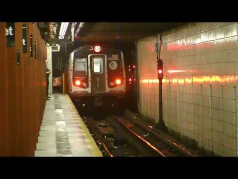 IND 6th Ave Line: R160A-1 M Train at 57th St via F Line (Brooklyn Bound) (Late Night G.O.)