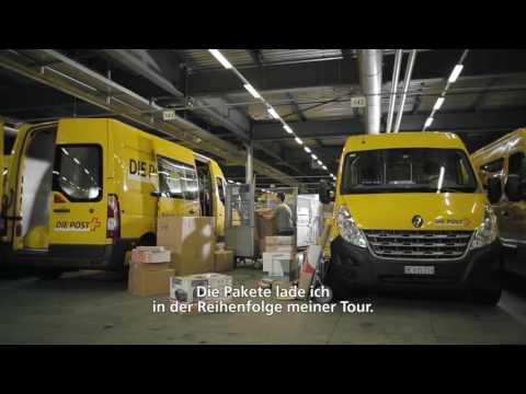 Michael, Paket-Zusteller Bei Der Schweizerischen Post