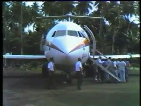 BAC 1- 11 475 First Landing On The Fijian Outer Island Of Rotuma's Unsealed Strip April 25th 1981