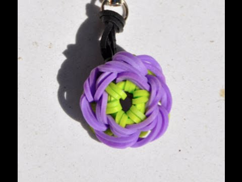How To Make A Rubber Band Key Ring Purple Periwinkle