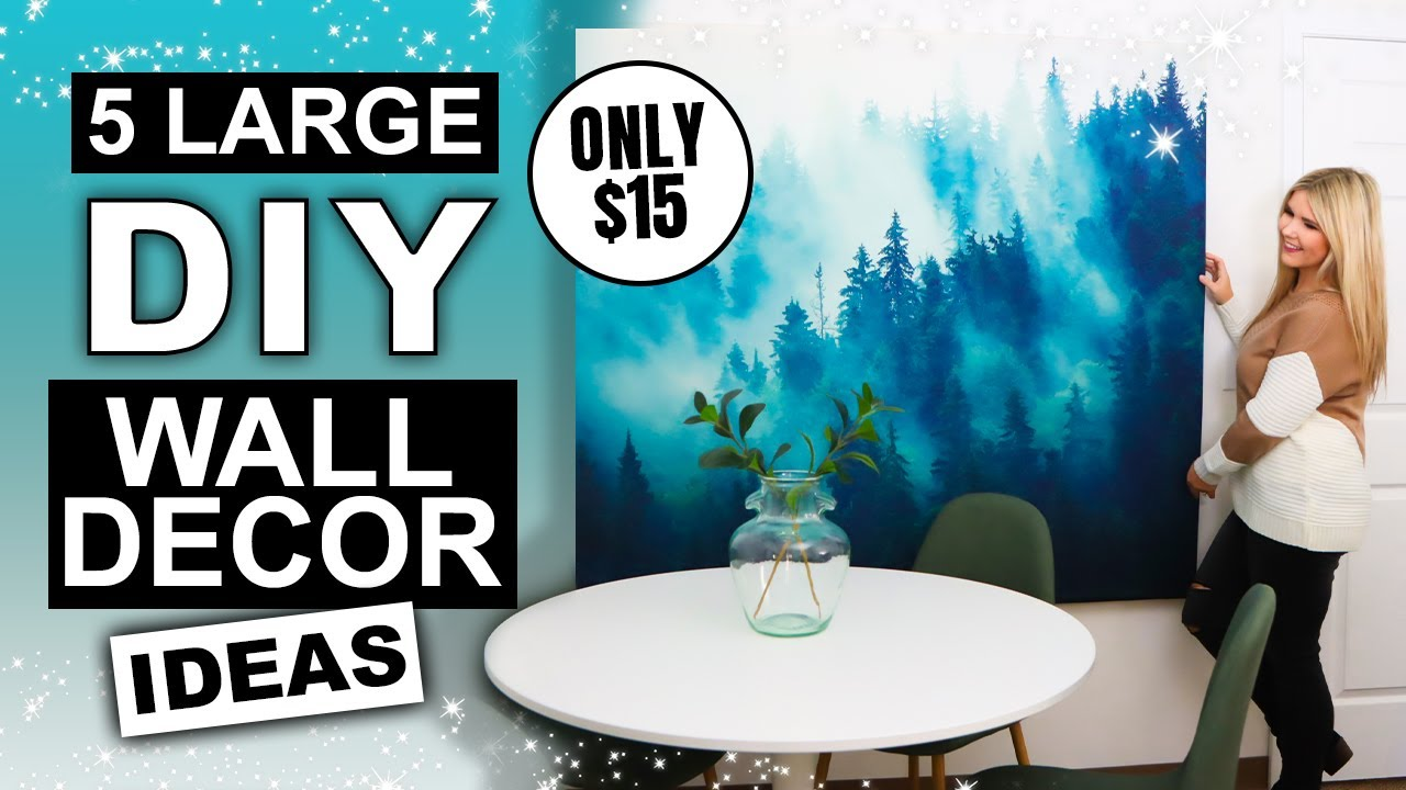 5 Large Wall Art IDEAS that are SUPER AFFORDABLE and CHEAP!!!