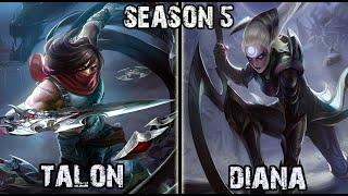 Best Talon Korea vs Diana MID Ranked Challenger