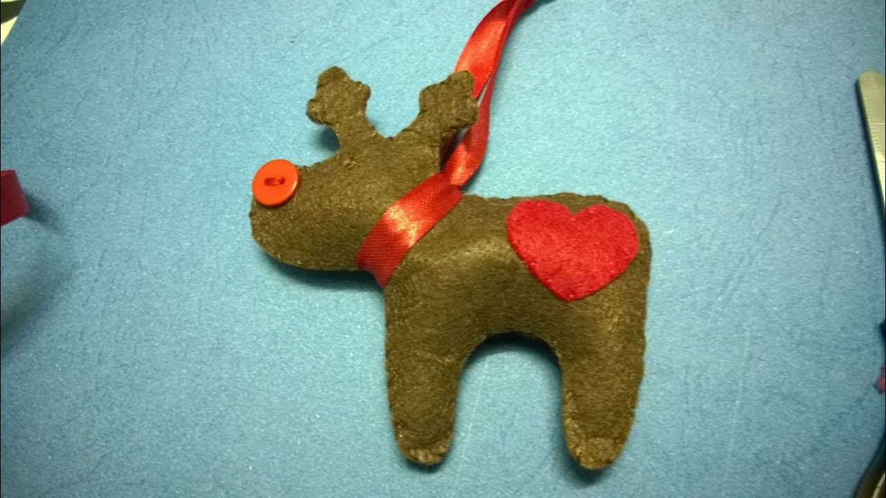 Reindeer christmas ornaments - Diy Christmas Ornaments Reindeer Felt Christmas Craft For Kid