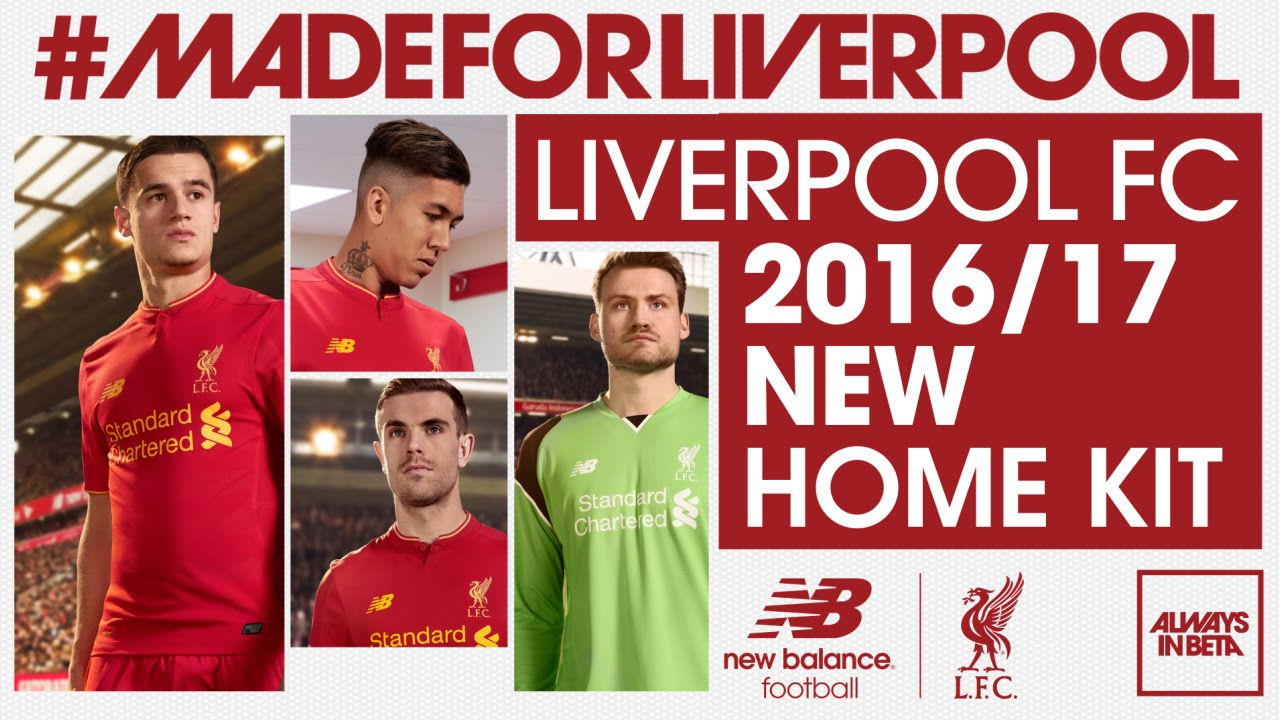 reputable site ee5bc 674b1 Liverpool FC players model new home kit