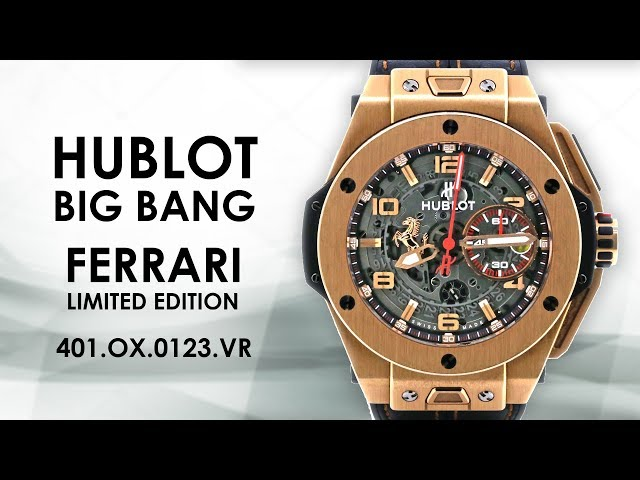 Hublot Big Bang Ferrari 18K Magic Gold Auto Skeleton Men's Watch 401.ox.0123.vr