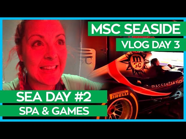 MSC Seaside | Aurea Spa, Pizza, 4D Cinema & F1 Simulator | MSC Cruises Vlog Day 03