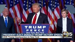 FULL: President-Elect Donald Trump Victory Speech - Election night 2016 thumbnail