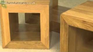 Dakar Solid Oak Set Of 3 Cube Tables From Oak Furniture Land