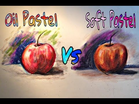 Oil Pastel vs Soft Pastel | How to draw Apple step by step ...