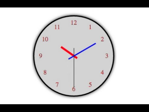 Analog HTML Clock. Full Demo On How To Make Analog Clock With HTML CSS3 And Javascript
