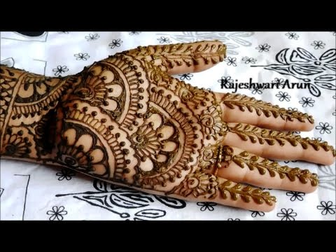 easy bridal henna mehndi designs for hands || mehndi designs for hands for marriage