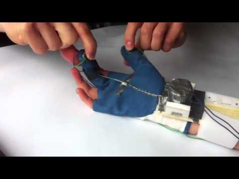 DTU mechatronics project, Mock-up of the Supportive Wired Arthritis Glove (Swag)