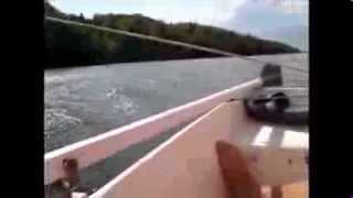 На парусной лодке по маршруту Каменка Волгореченск 2013 г.
