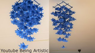 Wall Hanging Paper Flowers - DIY Wall Decor - Paper Craft - Paper Flower