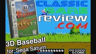 ClassicGameReview.com - Gameplay - 3D Baseball for Sega Saturn