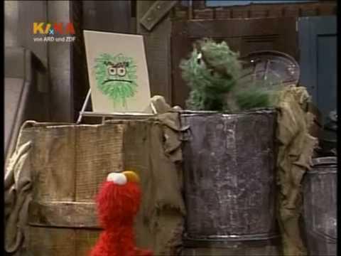 Sesamstrasse  Elmo schenkt Oscar ein Bild  YouTube