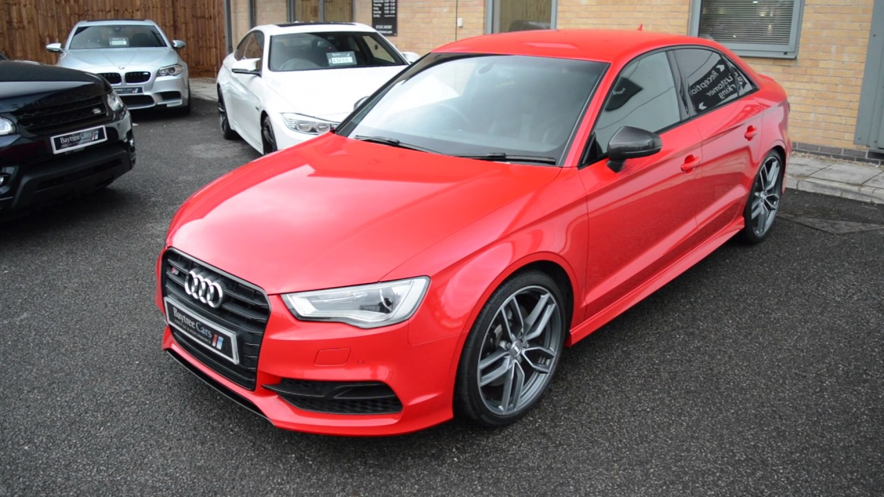 Audi A4 2.0 T Quattro >> Misano Red Pearl Audi S3 2.0 TFSI S Tronic Quattro at Baytree Cars - YouTube