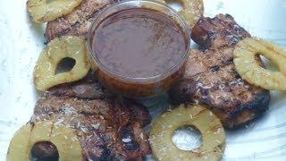 Father's Day Recipes - Hawaiian Recipes - Hawaiian Grilled Pork Chops Recipe