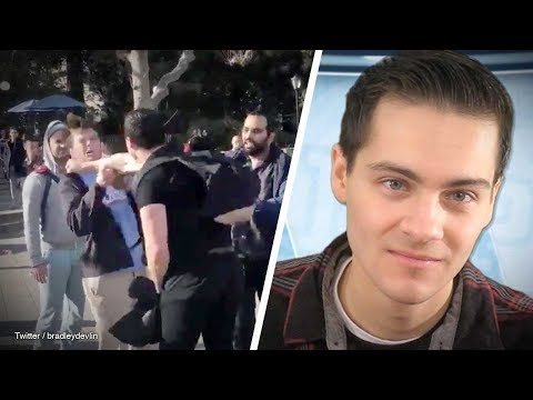 Conservative Punched In Face At UC Berkeley | Rob Shimshock