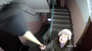 """""""Шоу Бэнни Хилла"""" в Тверском подъезде (прикольная озвучка)"""