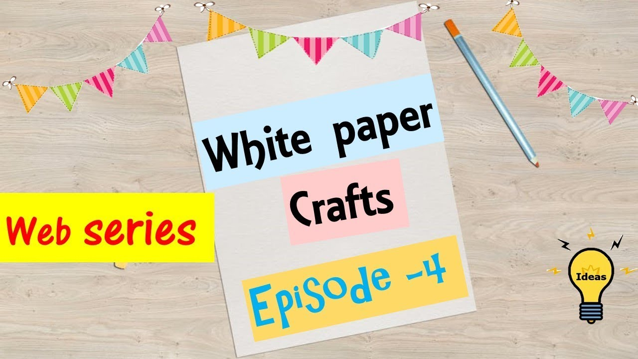 diy home decor white paper crafts wall hanging with paper