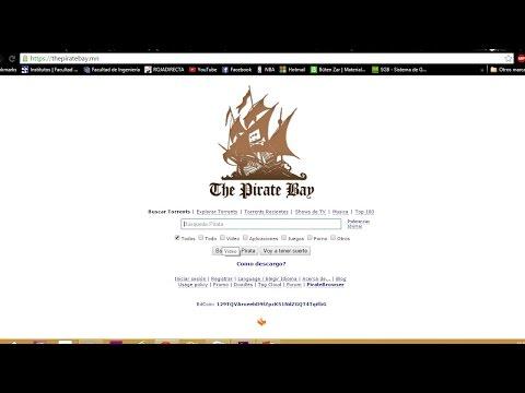 Cómo descargar contenido desde The Pirate Bay