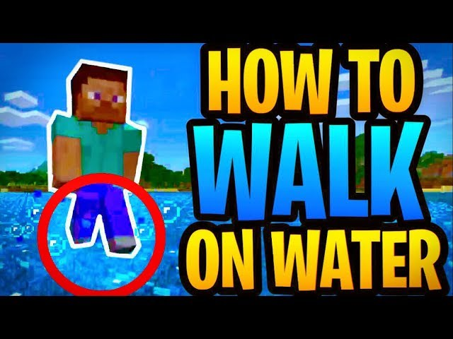 Minecraft - HOW TO WALK ON WATER! (Secret and Easy!)