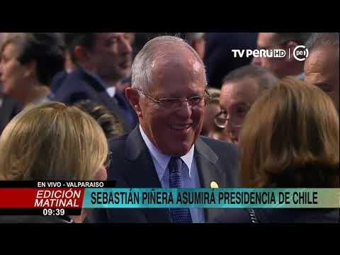 Kuczynski asistió a ceremonia de asunción de mando de Piñera