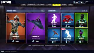 NOUVEAU SUR LE HOOK EMOTE - SHARK SKINS IN FORTNITE ITEM SHOP