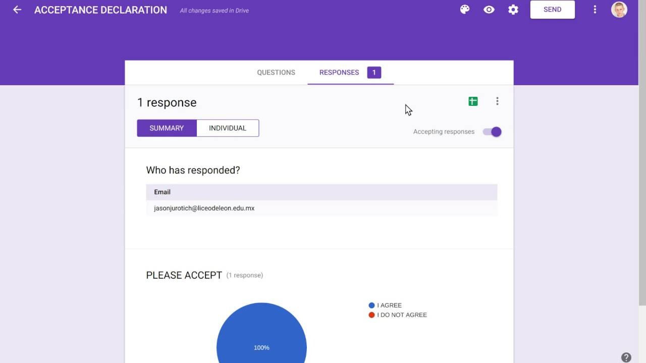 HOW TO USE GOOGLE FORMS FOR ACCEPTANCE DECLARATIONS