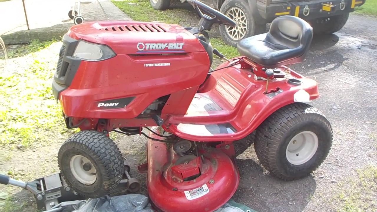 hight resolution of troy bilt pony steering repair